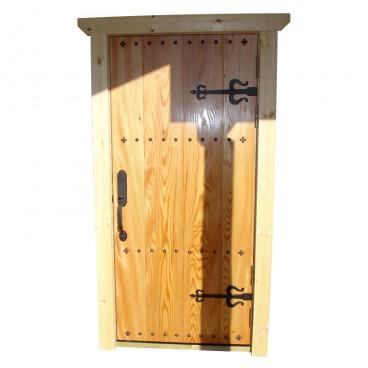 1天然のカラマツの玄関ドア